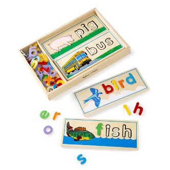 Wood Letter puzzle cards
